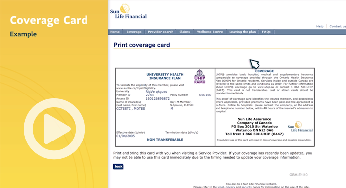 How to print your coverage card image